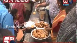 FREE FOOD DISTRIBUTION AT GOSHALA, BEGUM BAZAR, HYD.