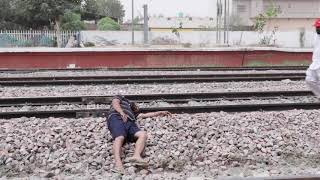Sharabi on Track | ਸ਼ਰਾਬੀ ਆਨ ਟਰੈਕ | Funny Video | 2018