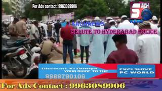 Selute To  Hyderabad police Constables At Eid Gah | @ SACH NEWS |