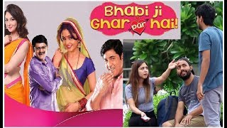 """""""BHABHI JI GHAR PAR HAI"""" Prank On Cute Girls   Funny Pranks In India"""