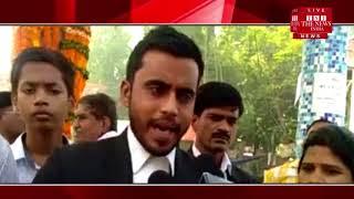 [Allahabad News] High court crossroads wreath at Ambedkar statue in Allahabad
