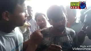 खुर्जा नगर के श्री राम कॉम्पलेक्स में एक चोर को भीड़ ने पकड़ कर जमकर पीटा