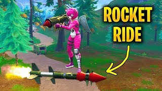 How to ROCKET RIDE with GUIDED MISSILE in FLY EXPLOSIVES in Fortnite Season 5
