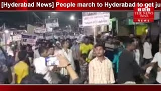 [Hyderabad News] People march to Hyderabad to get justice for Asifa near Hyderabad THE NEWS INDIA