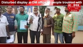 Disturbed display at DM office by people troubled with dirty water in Hyderabad THE NEWS INDIA