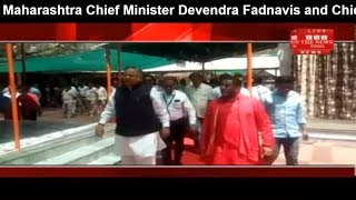 Chief Minister Devendra Fadnavis and Chief Minister of Dr. Raman Singh, reached DatiaTHE NEWS INDIA