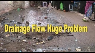 Drainage Flow At  Vattapally Fatimanagar , Hyd | Public Is Facing Huge Problem | @ SACH NEWS |