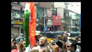 Asaduddin Owaisi ( Mp ) Hyd Hosted Flag At Madina Building On 71st Independence Day  | @ SACH NEWS |