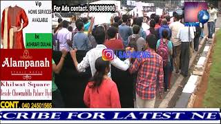 Hyderabad Journalists Protest At Basheerbagh  On Murder Of Journalist Gauri Lankesh.