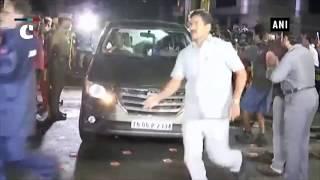 Rajinikanth visits ailing DMK chief M Karunanidhi, prays for his spedy recovery