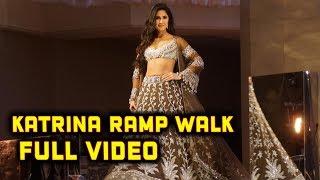 Gorgeous Katrina Kaif Beautiful Ramp Walk For Manish Malhotra Fashion Show 2018