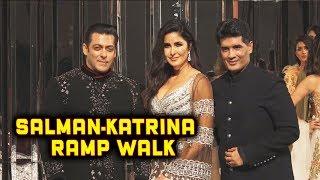 Lovely Couple Salman Khan And Katrina Showstopper For Manish Malhotra Fashion Show 2018