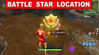 Search Between A Gas Station Soccer Pitch And Stunt Mountain -  BATTLE STAR LOCATION FORTNITE WEEK 4