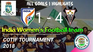 India 1-4 Fundacion Albacete | Women-s COTIF Tournament 2018