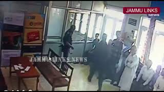 CCTV Footage: Bank loot attempt in Kashmir