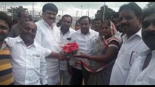 Sarees Distributed by Mlc Hanmanth Rao And Corporator Mukesh Singh   @ SACH NEWS  