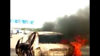 Verna Car Caught Fir At Outer Ring Road | @ SACH NEWS |