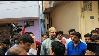 Asaduddin Owaisi Paidal Daura In Pahttatgatti Division Hyderabad | @ SACH NEWS |