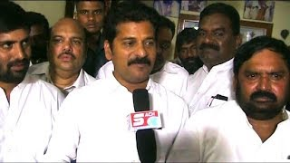 Revanth Reddy Visits Anjan Kumar Yadav House   And Welcomed By Anil Kumar Yadav And Md Ghouse. 