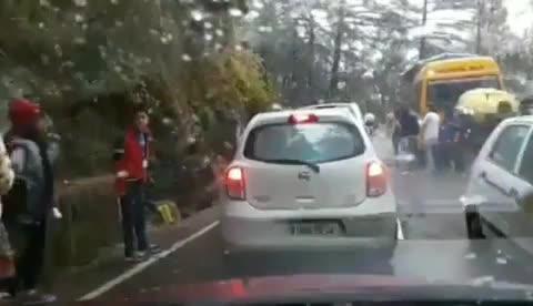 Dharamshala - Macleodganj Road - SNOWFALL