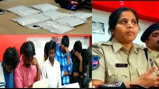 Drugs Smuggling Gang Arrested By Cyberabad Police | Students Involved In Gang |
