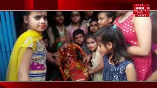 [ Jalaun News ] Gudda Guddi, made of a statue of marriage in Jalaun. / THE NEWS INDIA