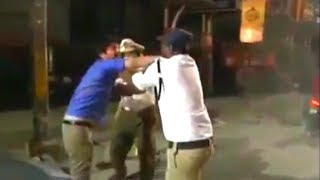 Man Vs Police | Fight Between Traffic Police And Man At Towlichowki Hyderabad |