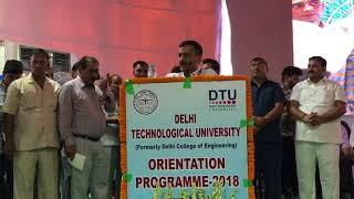 Delhi CM Arvind Kejriwal Addresses Orientation Programme at the Delhi Technological University