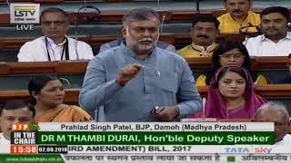 Shri Prahlad Singh Pa0tel on The Constitution (One Hundred and Twenty-Third Amendment) Bill, 2017
