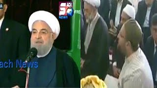 Iran President Hassan Rouhani Sppech In Hyderabad   Had A Grand Welcome In Hyderabad  