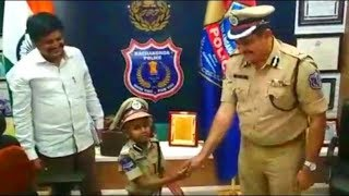 6 Years Old Boy Commissioner Of One Day | Ishanth Cancer Patient Made One Day Cp Of Rachakonda |