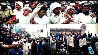 Macca Masjid Bomb  Blast Case Protest After Namaz E Jumma For The Justice .