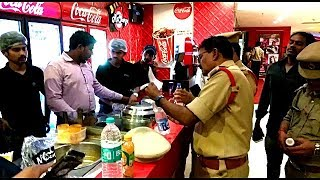 Raid In Asian Cinema Mall | Selling Snacks In High Rates | 3 Cases Booked | @ SACH NEWS |