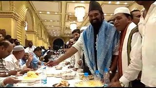 Dawat E Iftar Hosted By Congress Party In Hyderabad Red Rose Garden Nampally .