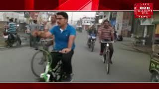 Rampur News ] पुलिस अधीक्षक डा विपिन ताडा ने साईकिल पर सवार होकर रामपुर शहर के बाजारो का लिया जायजा