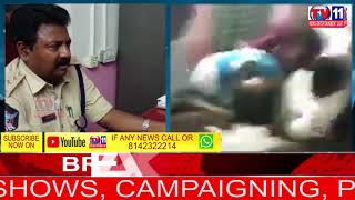 HI TENSION IN NELLORE, PUBLIC ATTACK ON SI BRUTALLY IN PS