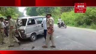 Van, who was coming from the front with a speeding speed in the pre-president's bike in Bijnor.