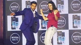 Ranveer Singh BELLY DANCING With Reporter | Funny Dance | Nivea Brand Ambassador Event