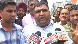 BJYM protests against statements of NC leaders on Article 35A