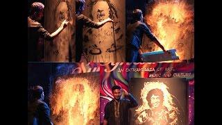Glue n Glitter painting of Zakir Hussain by Vivek Patil