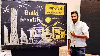 Glitter Painting in Ultratech Cement Event by Vivek Patil