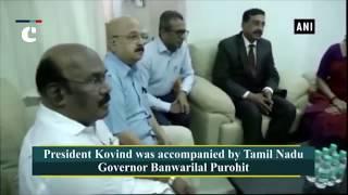 Tamil Nadu: President Kovind visits ailing Karunanidhi in hospital