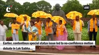 "TDP continues protest, MP Naramalli Sivaprasad dresses up as ""Lord Ram"""