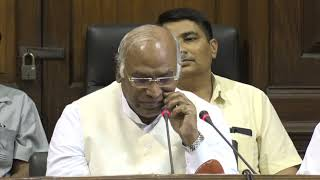 SC/ST Amendment Bill: AICC Press Briefing By Mallikarjun Kharge at Parliament House