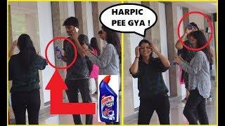 Drinking HARPIC Prank On Cute Girls ( Shocking Reactions )