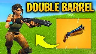 DOUBLE BARREL SHOTGUN IN FORTNITE SEASON 5 - HIGH DAMAGE SHOTGUN REVEALED GAMEPLAY