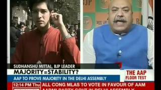 Aap to Prove Majority in The Delhi Assembly (HEADLINE TODAY 02-01-14)