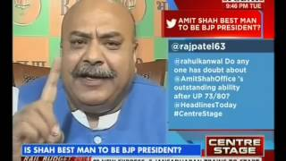 Is Amit Shah Best Man To Be BJP President? (Headlines Today, 08-July-14 )