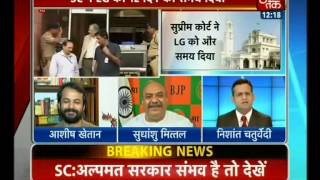 SC Gives 12 More Days to Delhi LG to Explore Government Formation Options(AajTak,30-Oct-14)-MK