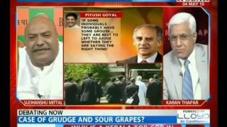 """Sudhanshu Mittal: """"Divergent Views Are Healthy For Democracy.""""(HeadlinesToday, 04-May-15)-MK"""